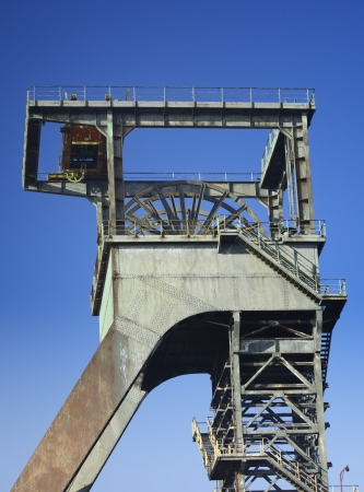 shafts: headframe of mine shafts Stock Photo
