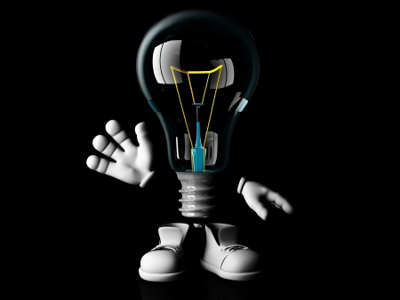 goodbye mister incandescent bulb Stock Photo