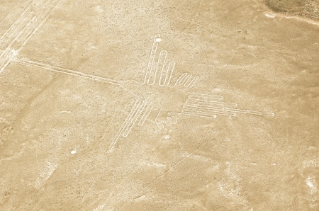 the hummingbird geoglyphs of Nazca photo