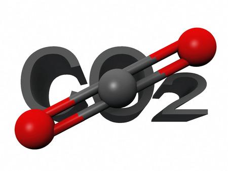 dioxide: molecule  of carbon dioxide Stock Photo