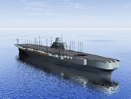 aircraft carrier: the  aircraft carrier on the sea