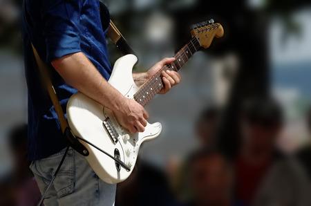 bass player: guitarist Stock Photo
