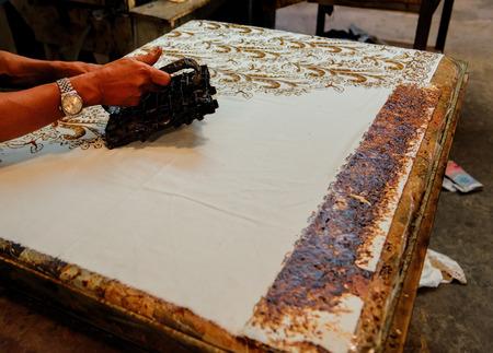 making a batik Stock Photo