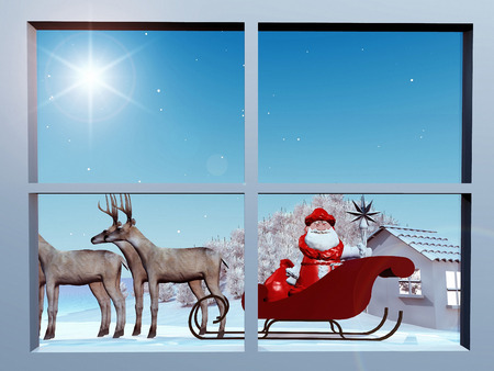 st  nick: Santa Claus On His sleigh