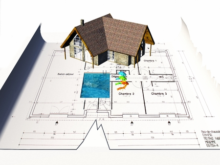 house plan: Beautiful house with house plan
