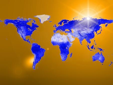 environmental science: earth map Stock Photo