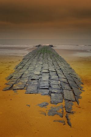 empedrado: la carretera asfaltada hasta el mar