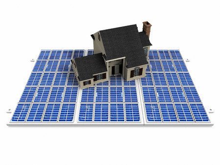 solar cell: the beautiful house on solar cell