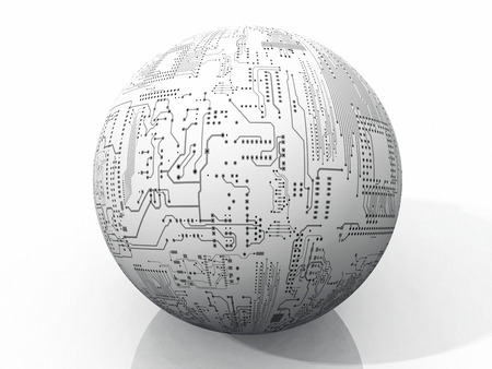 printed circuit: the ball of printed circuit boards