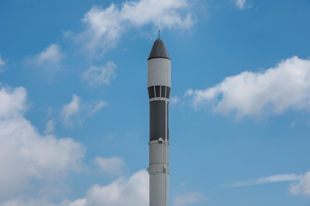 astronautics: Rocket head Stock Photo