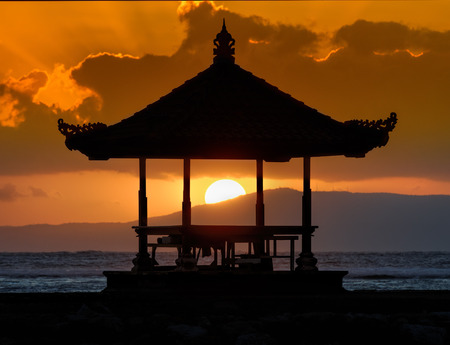bali beach: sunset in bali beach