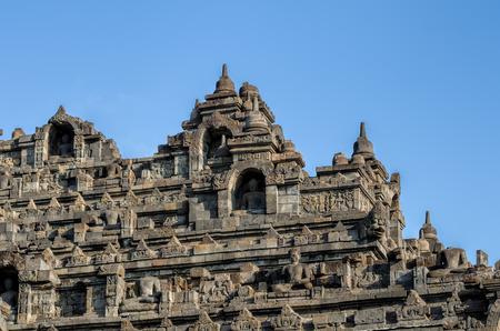 jogjakarta: Borobudur in Java in Indonesia Stock Photo