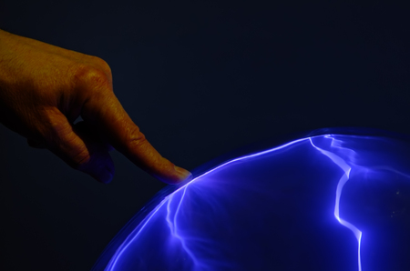 plasma: the plasma ball and the finger