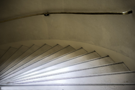 turning: the turning marble stairs Stock Photo