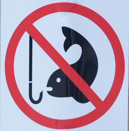 prohibited: fishing prohibited