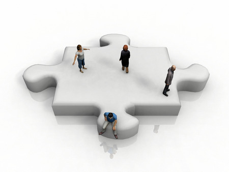piece: the puzzle piece and people