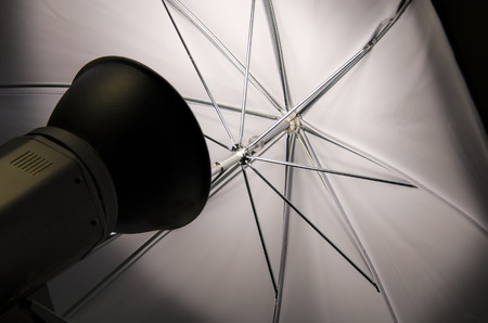 halogen lighting: projector and reflector umbrella