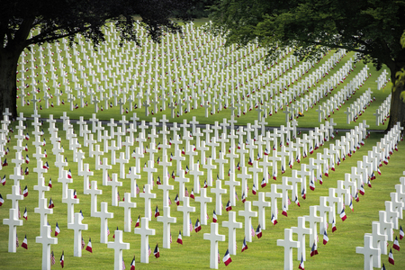 memorial day at the American cemetery in France Banque d'images