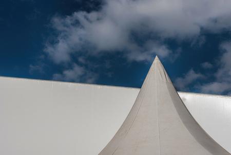 metalic texture: white tents Stock Photo