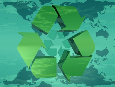 reflection in mirror: Earth and recycling