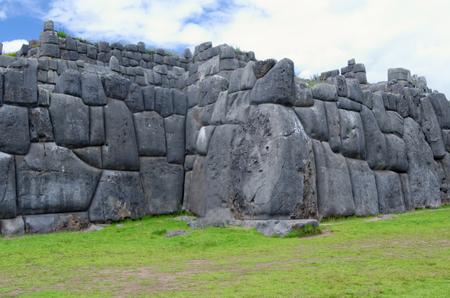Sacsahuaman in peru 版權商用圖片