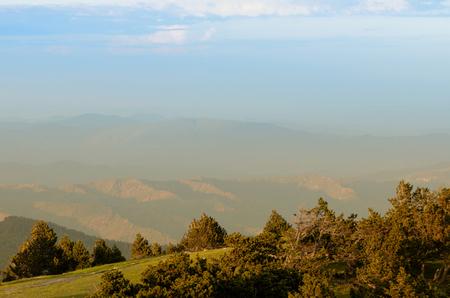 mountainous: mountainous landscape