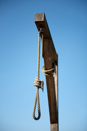 The hanging rope in Struthof Camp