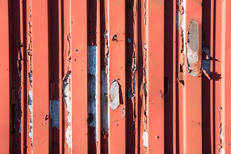 red painted metallic panels Stock Photo