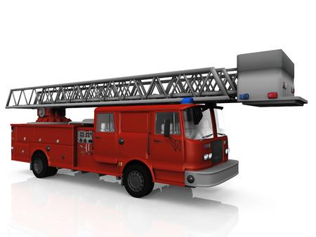 Le camion de pompiers Banque d'images - 94807716