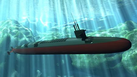 수중 잠수함 스톡 콘텐츠