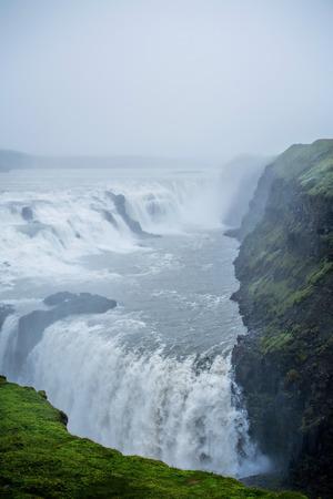 Gullfoss Falls in Iceland Stock fotó