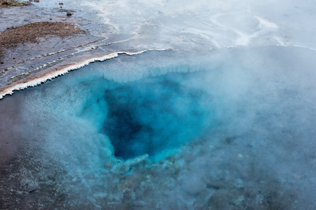 Geothermal zone of geysir in iceland