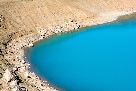 Volcanic blue lake in iceland Stock Photo