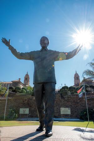 statue of Nelson Mandela Editorial