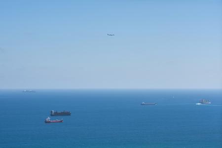 cargo ship and plane