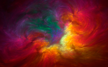 Abstract fractal, colorful cosmic clouds, vivid background 版權商用圖片
