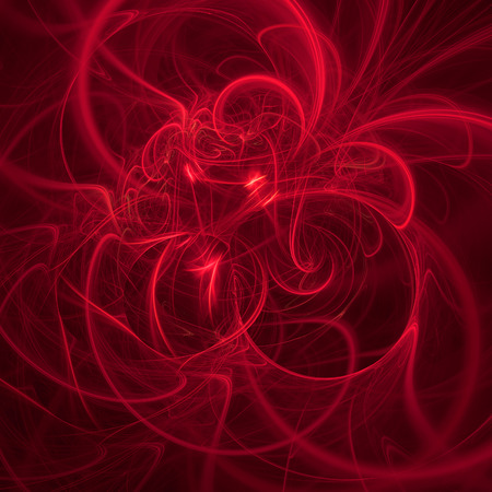 Abstract fractal, dark red background with chaotic curves 版權商用圖片