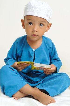 イスラム教の子供たちを学ぶ 写真素材