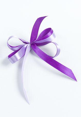 satin ribbon bow on white background Stock Photo - 5608954