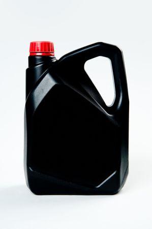 Black plastic canister on white background Stock Photo - 5695484
