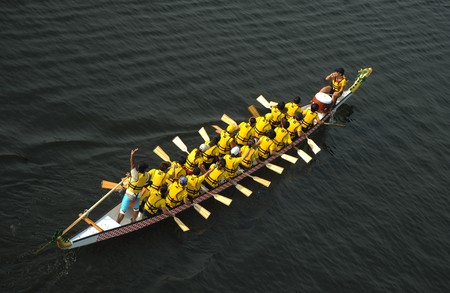 dragonboat: Dragon Boat from top view