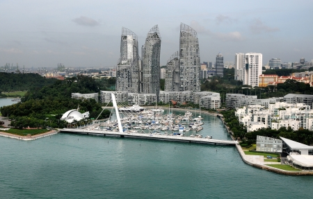 SINGAPORE - DECEMBER 29: Keppel Bay Marina on December 29, 2012 in Singapore. Keppel Bay Marina is the exclusive home of choice for international luxury yachts and a water playground for the privileged.