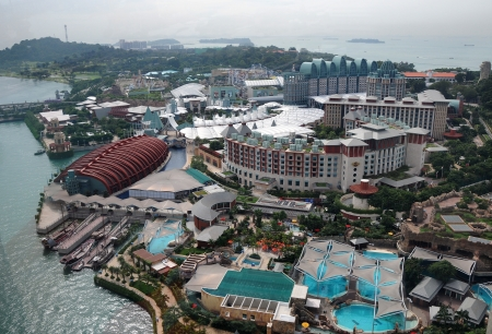 SINGAPORE - DECEMBER 29: Sentosa Island on December 29, 2012 in Singapore. Locate on the eastern Singapore Island. Consists of a theme park, sand beach, resort accommodation, yacht marina and luxury residence.