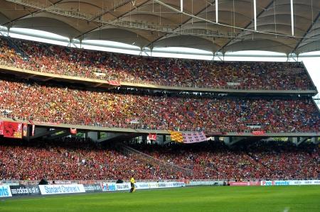 KUALA LUMPUR - JULY 16 : Spectator during a friendly match against Malaysia on July 16, 2011 in Kuala Lumpur, Malaysia. Liverpool won 6-3.