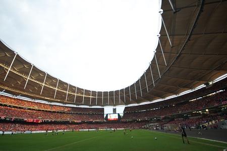 KUALA LUMPUR - JULY 16 : spectator in the stadium during a friendly match against Malaysia on July 16, 2011 in Kuala Lumpur, Malaysia. Liverpool won 6-3. 報道画像