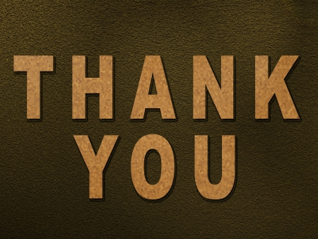 Thank You text  on texture background photo