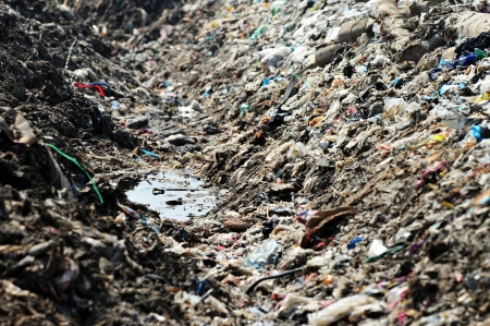 mucky: mucky water in a landfill