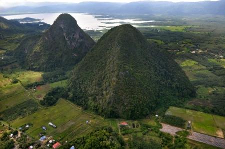 Rain Forest mountain, Perlis Malaysia - arial view Stock Photo
