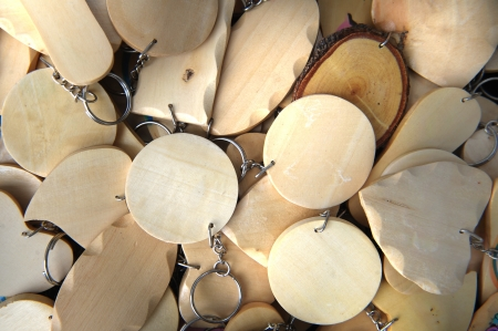 wood key chains with empty space photo