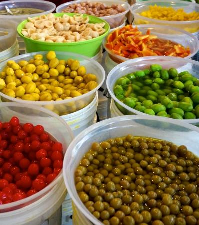 Colour full pickled fruits